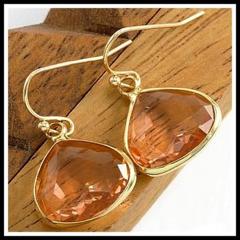 Orange Tourmaline Earrings