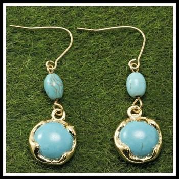 Pressed Turquoise Earrings