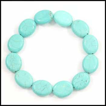 Pressed Turquoise Stretch Bracelet
