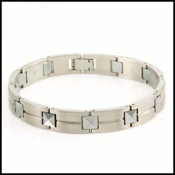 """SHR Stainless Steel Bracelet 8.5"""" Long"""