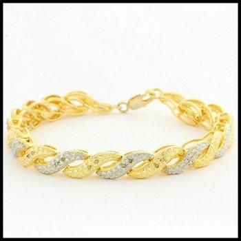 Solid .925 Sterling Silver, 0.05ctw Genuine Diamonds Bracelet
