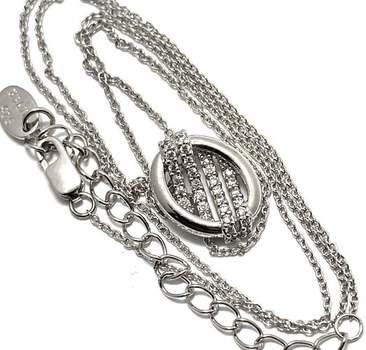 Solid .925 Sterling Silver, 0.18ctw White Diamonique Necklace