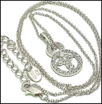 Solid .925 Sterling Silver, 0.35ctw (AAA Grade) CZ's Necklace