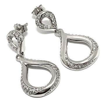 Solid .925 Sterling Silver, 0.35ctw White Diamonique Earrings