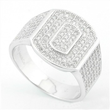 Solid .925 Sterling Silver, 0.50ctw Genuine White Topaz Ring sz 7