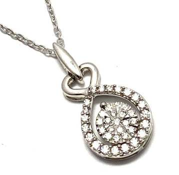 Solid .925 Sterling Silver, 0.75ctw White Diamonique Necklace