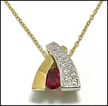 Solid .925 Sterling Silver, 1.10ctw (AAA Grade) CZ's Necklace