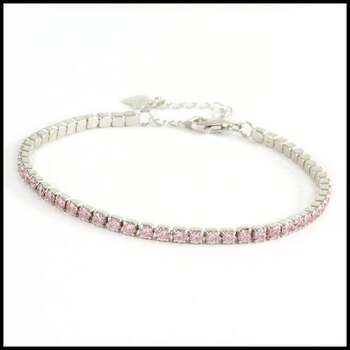 Solid .925 Sterling Silver & 14k White Gold Plated, 3.00ctw AAA Grade CZ's Tennis Bracelet
