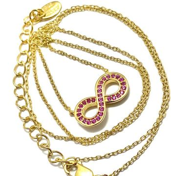 Solid .925 Sterling Silver & 14k Yellow Gold Plated, 0.30ctw Ruby Necklace