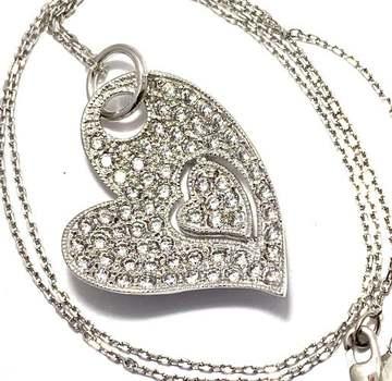 Solid .925 Sterling Silver, 1.50ctw White Diamonique Necklace