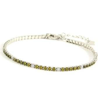 Solid .925 Sterling Silver, 2.00ctw Cubic Zirconia Tennis Bracelet