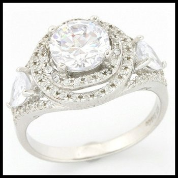 Solid .925 Sterling Silver, 2.05ctw (AAA Grade) CZ's Ring size 8