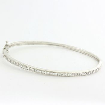 Solid .925 Sterling Silver, 2.50ctw White Sapphire Bracelet