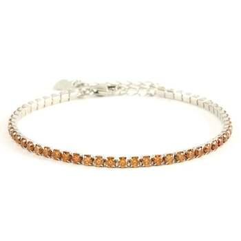 Solid .925 Sterling Silver, 3.00ctw Golden Topaz Tennis Bracelet