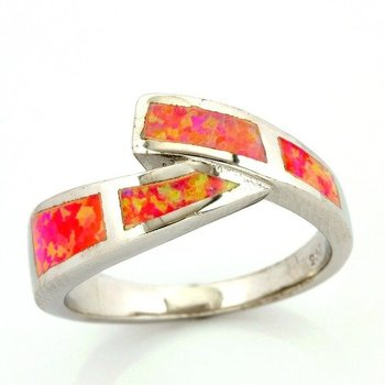 Solid .925 Sterling Silver, 3.00ctw Pink Opal Ring size 7