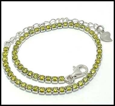 Solid .925 Sterling Silver, 3.3ctw (AAA Grade) CZ's Tennis Bracelet