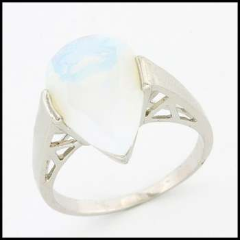 Solid .925 Sterling Silver, 5.75ctw Opal Ring sz 7