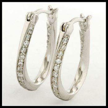 Solid .925 Sterling Silver AAA Grade Australian Cz's Earrings