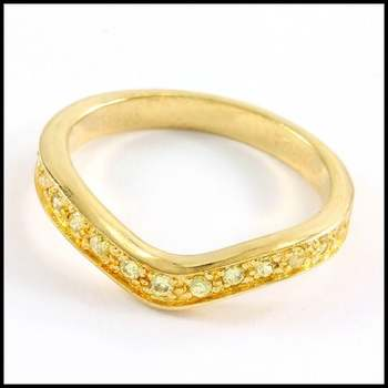 Solid .925 Sterling Silver & Yellow Gold Plated, 0.3ctw AAA Grade CZ's Ring Size 7