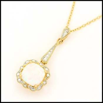 Solid .925 Sterling Silver & Yellow Gold Plated, White Opal Necklace