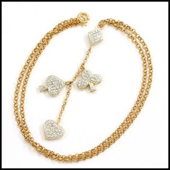 Solid .925 Sterling Silver & Yellow&White Gold Plated, 0.05ctw Genuine Diamond Accent Necklace