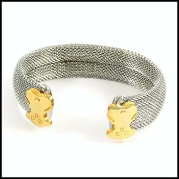 Stainless Steel & Yellow Gold Plated Bracelet