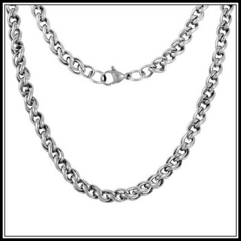 "Stainsess Steel 23"" Long 34.3 Grams Design Chain Necklace"