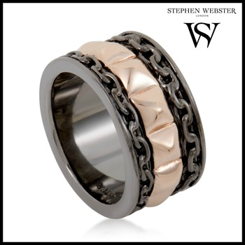 Stephen Webster Alchemy in the UK Rose Gold Plated Silver Band Ring Size 10.75