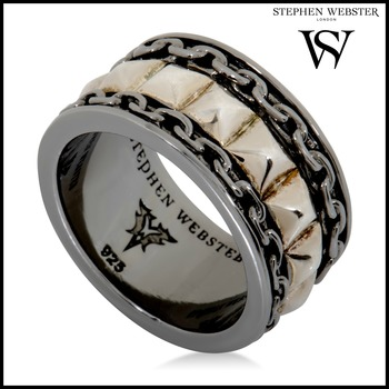 Stephen Webster Alchemy in the UK Yellow Gold Plated Silver Band Ring Size 9.75
