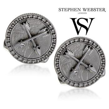 Stephen Webster Astro Saggitarius Mens Silver and Garnet Cuff-links