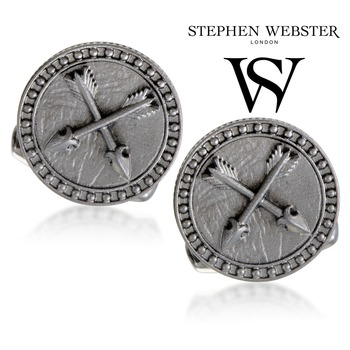 Stephen Webster Astro Saggitarius Mens Silver and Garnet Cuff-links