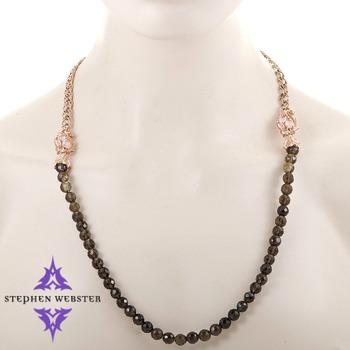 Stephen Webster Pop Superstud Rose Gold Plated Silver and Quartz Beaded Necklace