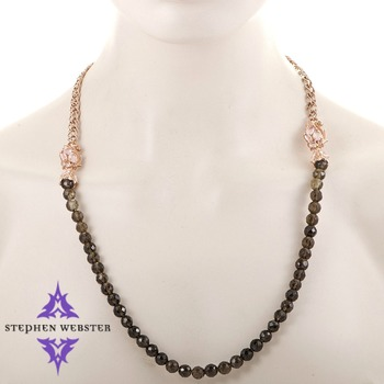 Stephen Webster Pop Superstud Rose Gold Plated Silver and Quartz Beaded Necklace