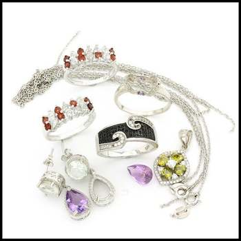 Sterling Silver with White Gold Overlay Arts & Kraft Supply 20.7 Grams Damaged Lot of Jewelry