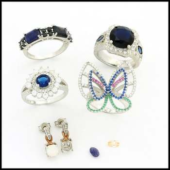 Sterling Silver with White Gold Overlay Arts & Kraft Supply 22.4 Grams Damaged Lot of Jewelry