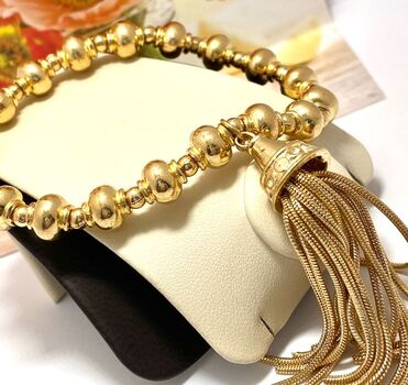 Strand Stretch Tassel Bracelet