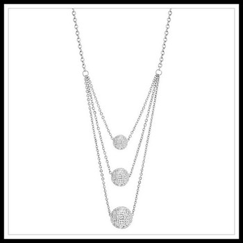 Swarovski Elements Triple Row Necklace