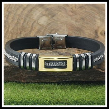 Three-Tone Adjustable Men's Bracelet