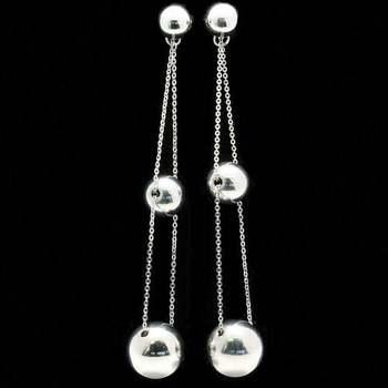Triple-Drop Ball Earrings