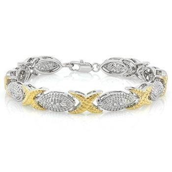 Two-Tone, 0.03ctw Diamonds Bracelet