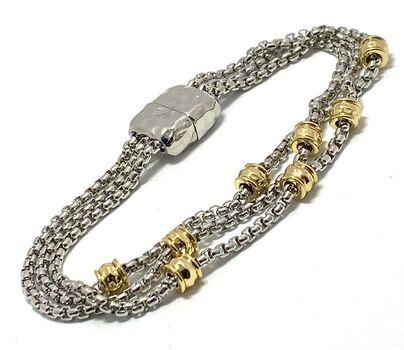 "Two-tone 7"" Long Bracelet"