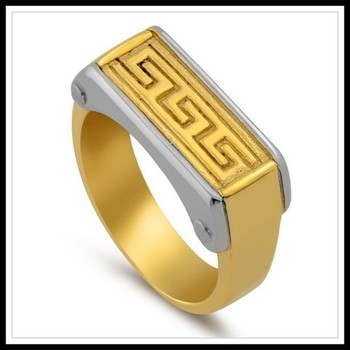 Two-Tone Men's Ring Size 12