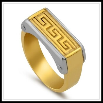 Two-Tone Men's Ring Size 9