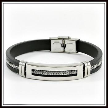 Two-Tone Men's Silicone Bracelet