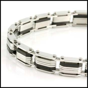 Two-Tone Stainless Steel 8.5 Inches Long Bracelet