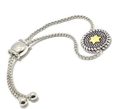Two-Tone Star Adjustable Bracelet