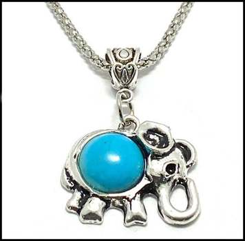 White Gold Overlay, Pressed Turquoise Necklace