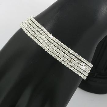White Sapphire 5 Stackable Bracelets