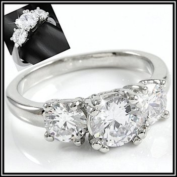 White Sapphire Engagement Ring Size 7
