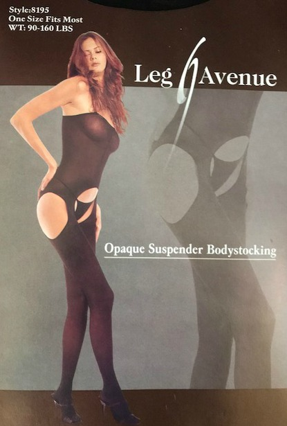 57a68b5056 Image 1 of 2. Opaque Suspender Black Bodystocking